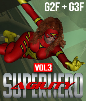 SuperHero Agility for G2F and G3F Volume 3 3D Figure Assets GriffinFX