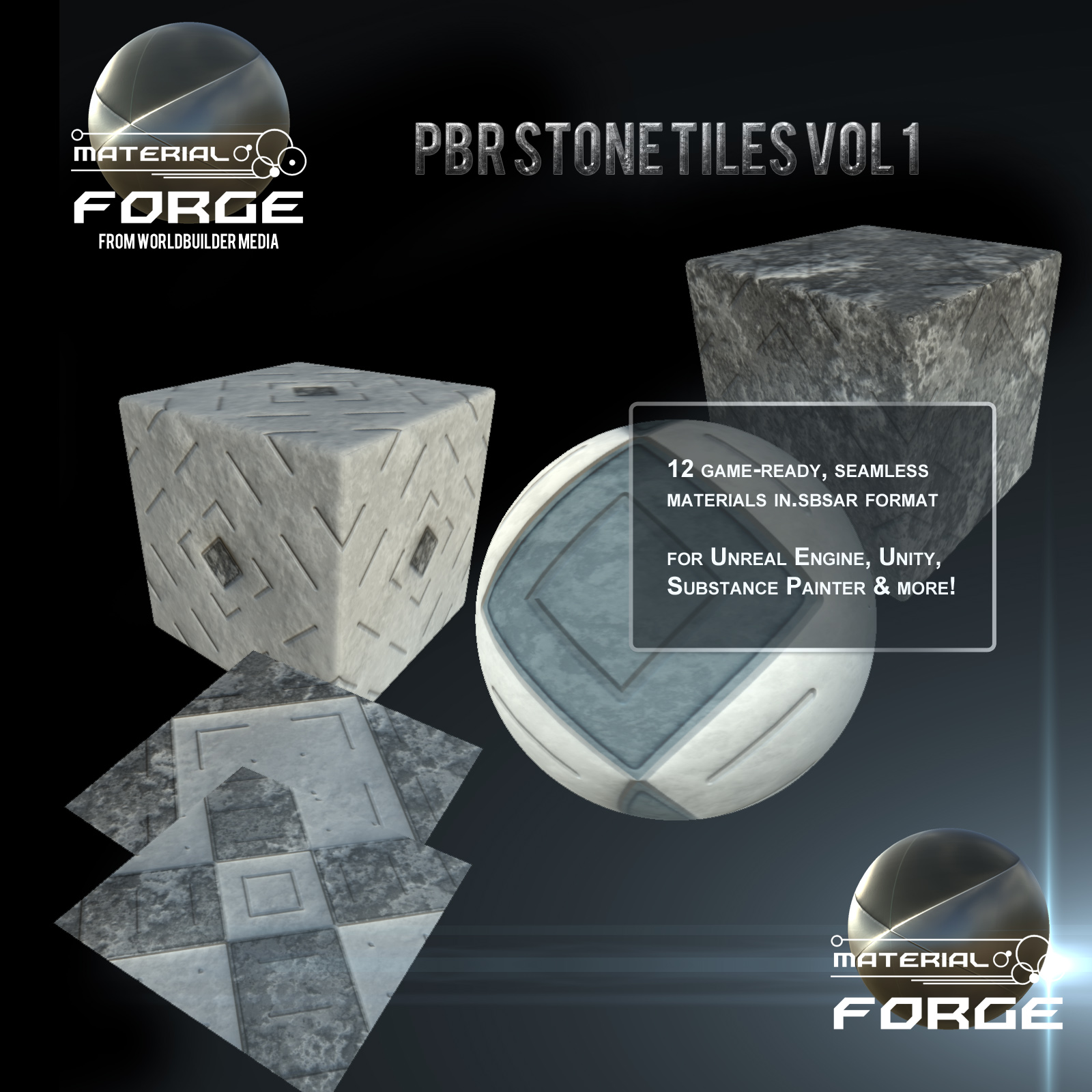 Material Forge: Stone Tiles Vol. 1  by WorldbuilderMedia