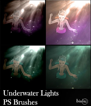 Underwater Lights PS Brushes 2D Graphics biala