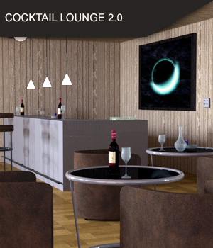 Cocktail Lounge and Bar 2.0 for Daz Studio 3D Models SF-Design
