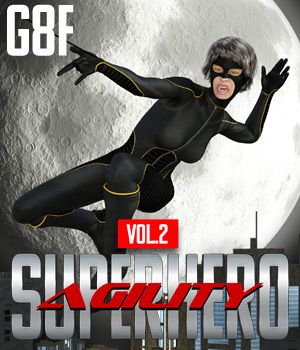 SuperHero Agility for G8F Volume 2 3D Figure Assets GriffinFX
