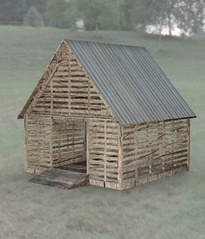 Corncrib  for DAZ Studio  3D Models Digimation_ModelBank