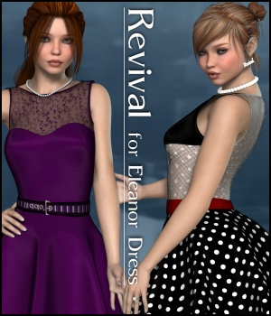 Revival for Eleanor Dress V4_Poser 3D Figure Assets JudibugDesigns