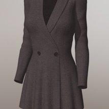 Overcoat I for V4A4G4S4Elite and Poser image 6