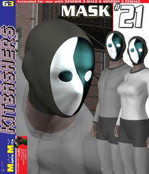 MMKBG3 Masks 021 3D Figure Assets MightyMite