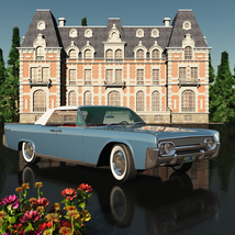 LINCOLN CONTINENTAL 1961  ( OBJ and FBX ) EXTENDED LICENSE image 1