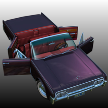LINCOLN CONTINENTAL 1961  ( OBJ and FBX ) EXTENDED LICENSE image 4