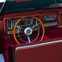 LINCOLN CONTINENTAL 1961  ( OBJ and FBX ) EXTENDED LICENSE image 6