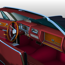 LINCOLN CONTINENTAL 1961  ( OBJ and FBX ) EXTENDED LICENSE image 7