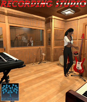 Recording Studio for Poser 3D Models BlueTreeStudio