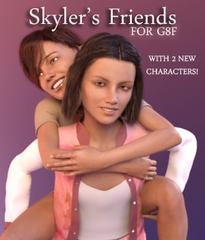 Skyler's Friends for G8F 3D Figure Assets AliveSheCried