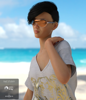 Trendy Glasses for Genesis 3 and 8 Males and Females 3D Figure Assets Cichy