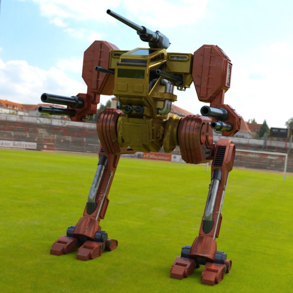 Hawksclaw Robot Mech  for DAZ Studio