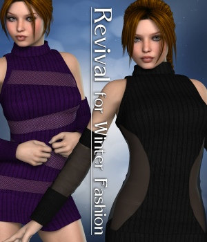 Revival for Winter Fashion V4_Poser 3D Figure Assets JudibugDesigns