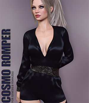Cosmo Romper for Genesis 8 Females 3D Figure Assets lilflame