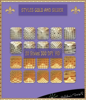Styles Gold And Silver 2D Graphics Merchant Resources Perledesoie