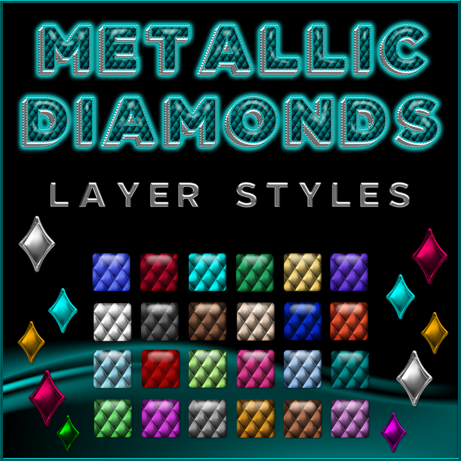 Metallic Diamonds PS Layer Styles