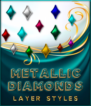 Metallic Diamonds PS Layer Styles 2D Graphics Merchant Resources fractalartist01