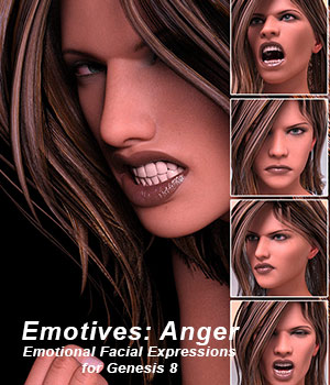 Emotives Angry 3D Figure Assets sixus1