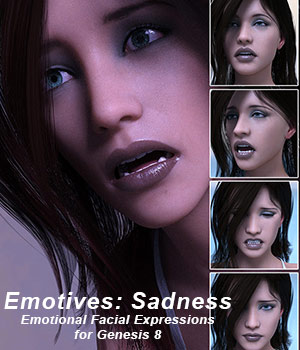 Emotives Sadness 3D Figure Assets sixus1