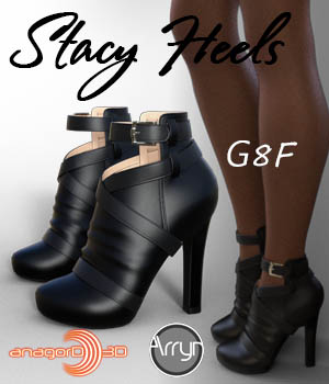 Stacy Heels and Pantyhose G8F 3D Figure Assets Arryn