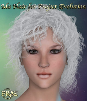 Prae-Ida Hair for Project E Poser 3D Figure Assets prae