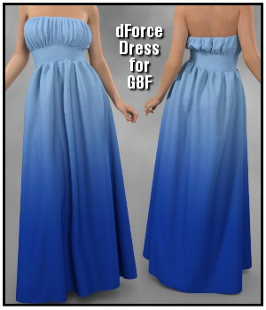 dForce - Fabulous Dress for G8F 3D Figure Assets Lully