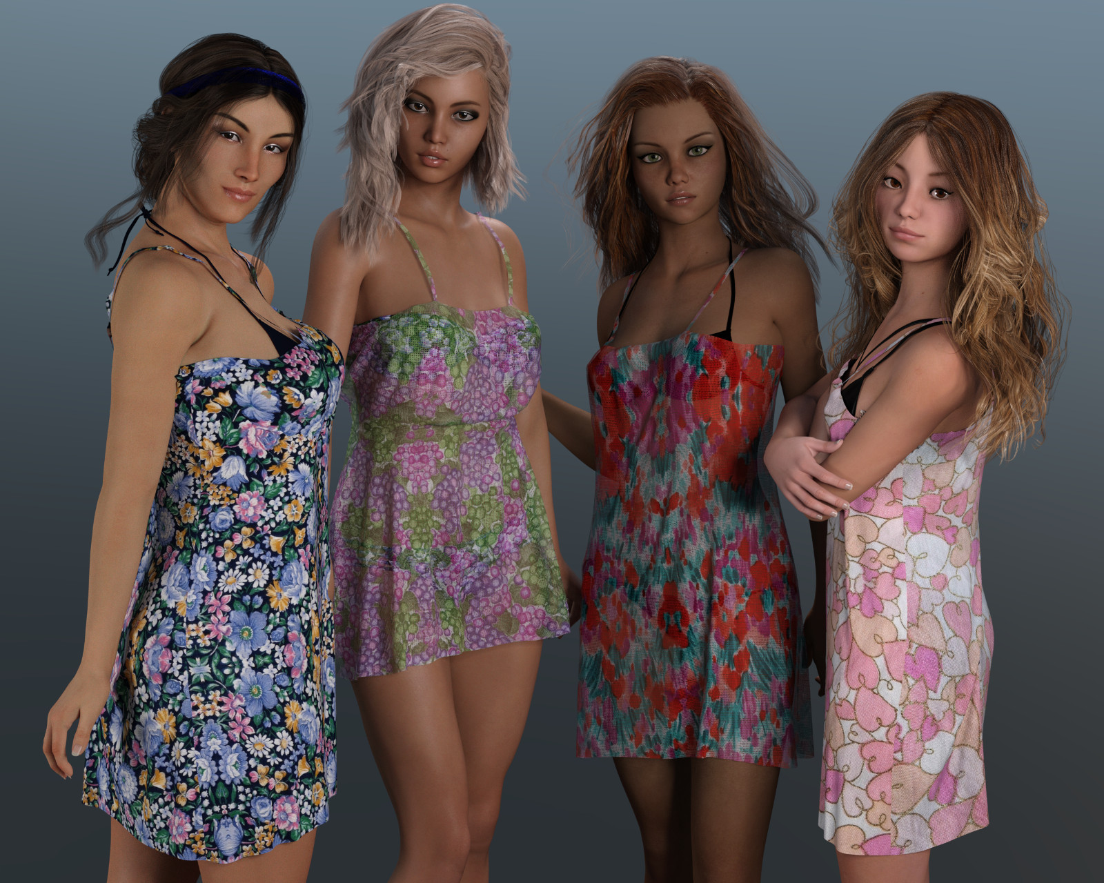 dForce Cover Ups for Genesis 3 Female and Genesis 8 Female
