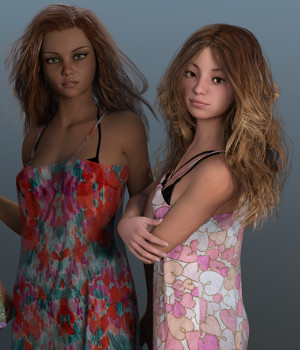 dForce Cover Ups for Genesis 3 Female and Genesis 8 Female 3D Figure Assets Deacon215