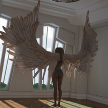 Aviary Wings for Genesis 8 Male and Female image 11
