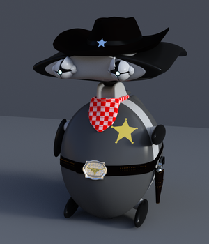 Sheriff outfit for KX Wibi 3D Figure Assets KwiSix