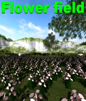 Flower field Poser 3D Models JeffersonAF