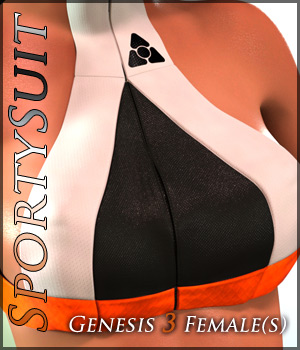 SportySuit for Genesis 3 Females 3D Figure Assets Quanto