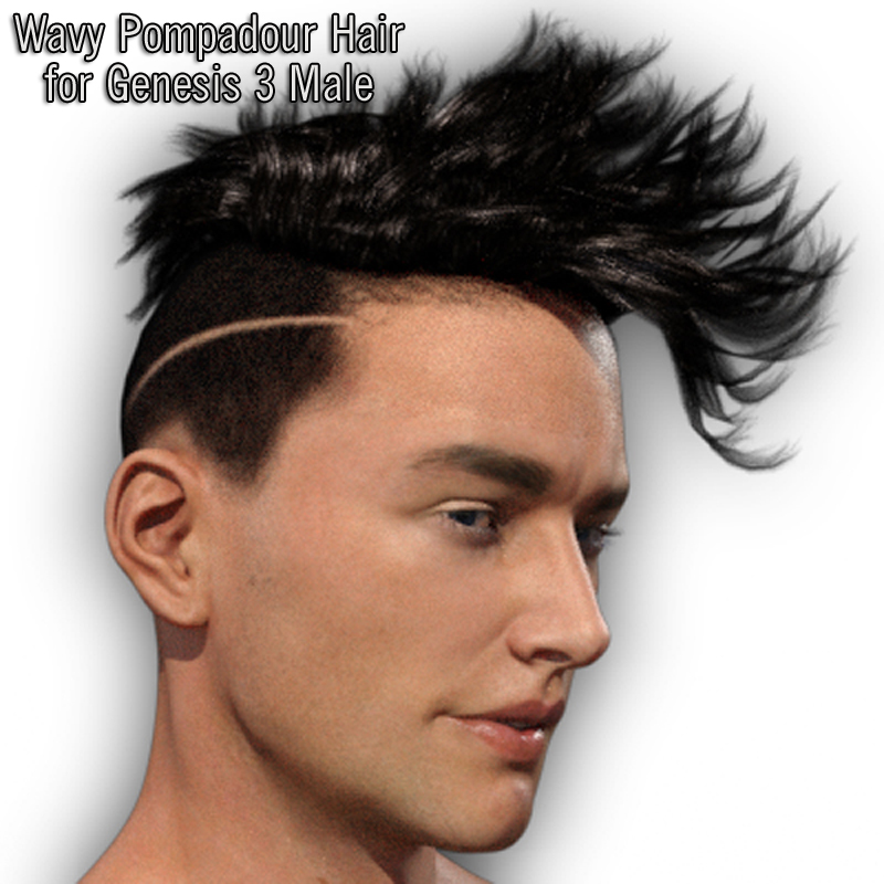 Wavy Pompadour Hair for G3M by RPublishing