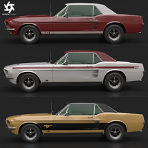 FORD MUSTANG GT 1967 for POSER image 8