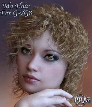 Prae Ida Hair For G3/G8 Daz 3D Figure Assets prae