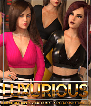 Luxurious for VDuo Outfit 3D Figure Assets ShanasSoulmate