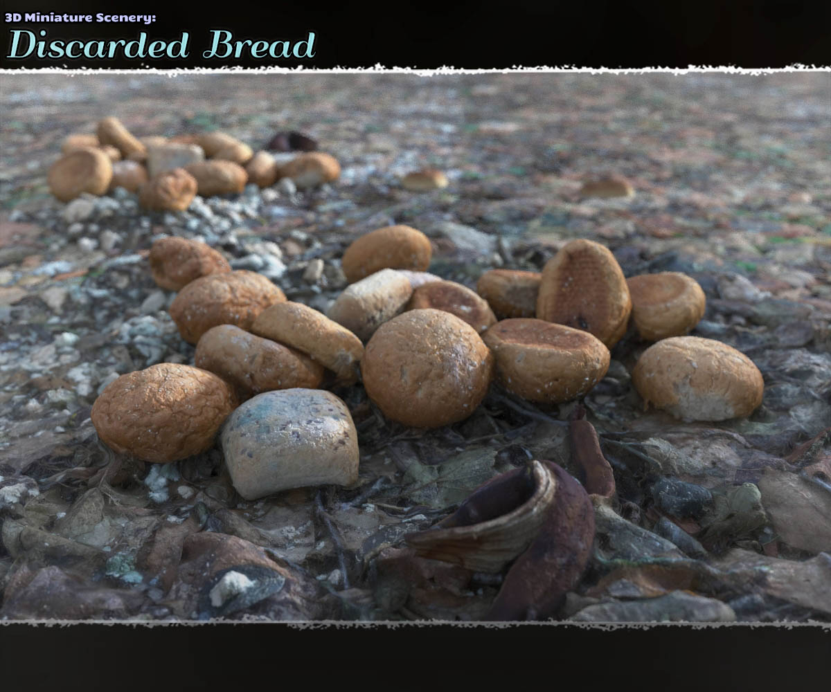 3D MiniScenery: Discarded Bread by ShaaraMuse3D