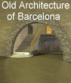 Old Architecture of Barcelona Poser 3D Models JeffersonAF