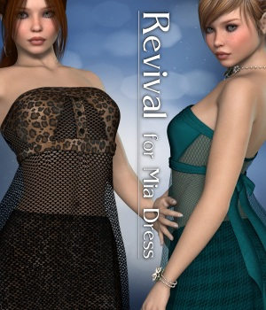 Revival for Mia Dress V4_Poser 3D Figure Assets JudibugDesigns