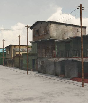 Shanty Town Buildings 2: Town Blocks - for Vue  3D Models VanishingPoint