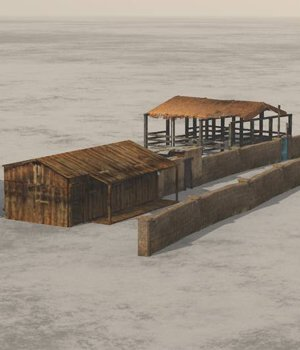 Shanty Town Buildings 2: Farm - for Vue  3D Models VanishingPoint