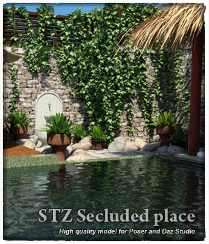 STZ Secluded place  3D Models santuziy78