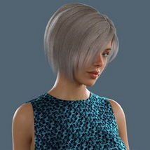 Slide3D Bob Hair for G3F and G8F image 1