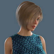 Slide3D Bob Hair for G3F and G8F image 2