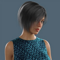 Slide3D Bob Hair for G3F and G8F image 4