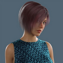 Slide3D Bob Hair for G3F and G8F image 5