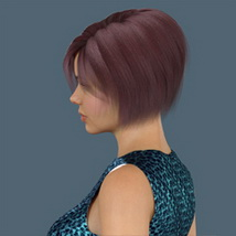 Slide3D Bob Hair for G3F and G8F image 6