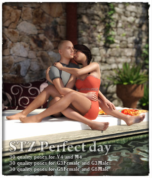 STZ Perfect Day Poses   3D Figure Assets santuziy78