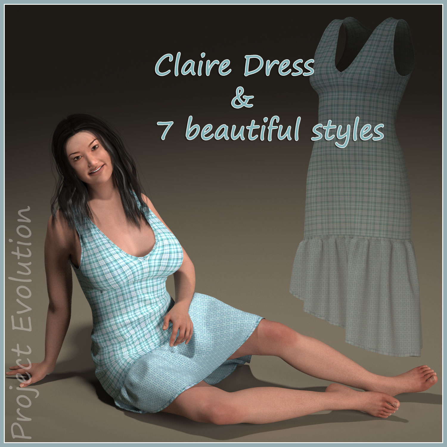 Claire Dress for Project Evolution - Poser